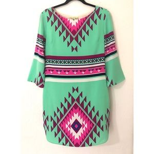 Gianni Bini Medium Tribal Print Dress
